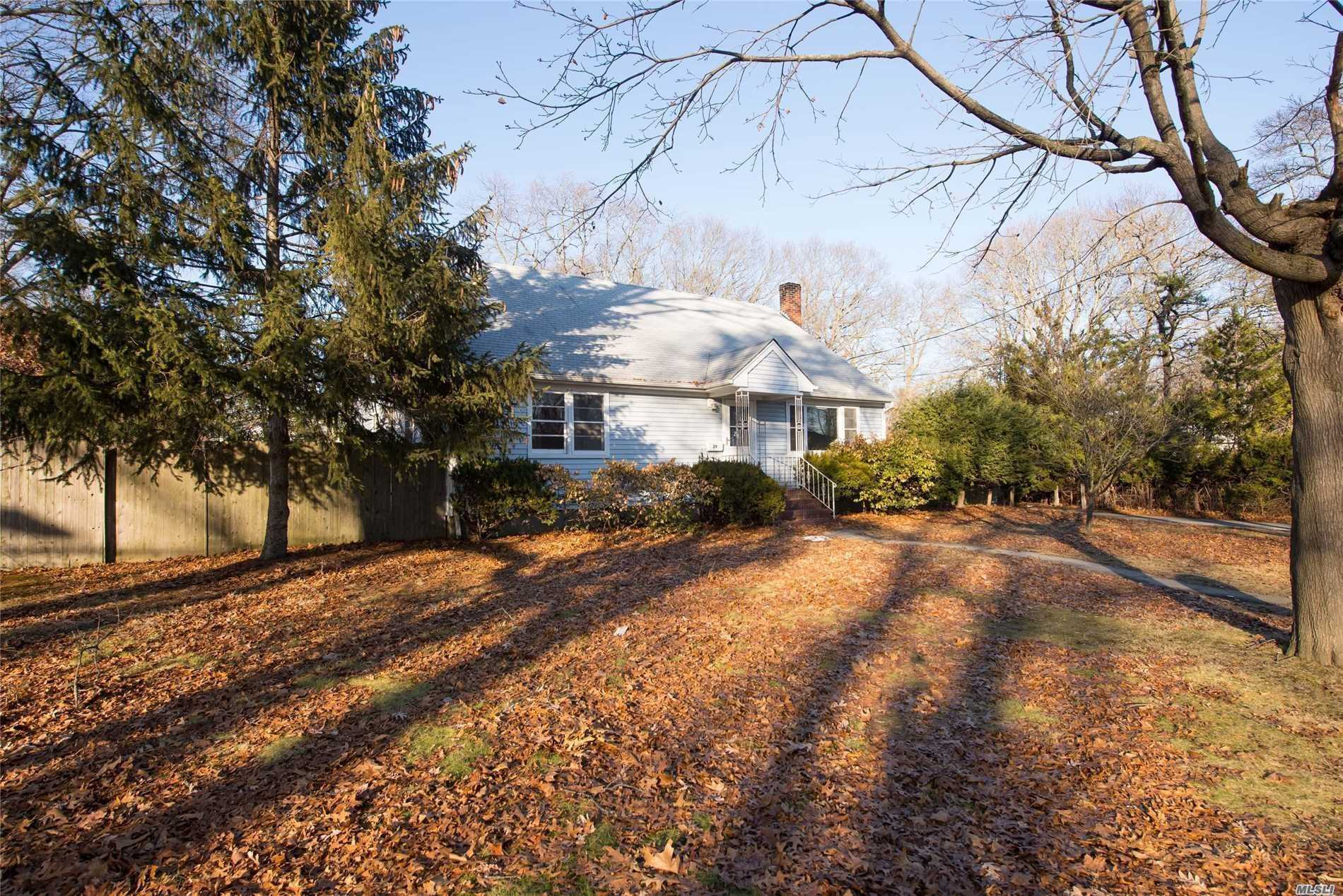 Lovely 4 Bedroom Expanded Cape. Large Living Room, Formal Dining Room, Eik, 1.5 Baths & 2 Bedrooms On Main Floor. Oak Floors, 2 Large Bedrooms Upstairs With A Lot Of Storage. Full Finished Basement With Outside Entrance, Home Has Oil Heat & 200 Amp Electric. East Islip Star Rebate $1, 225