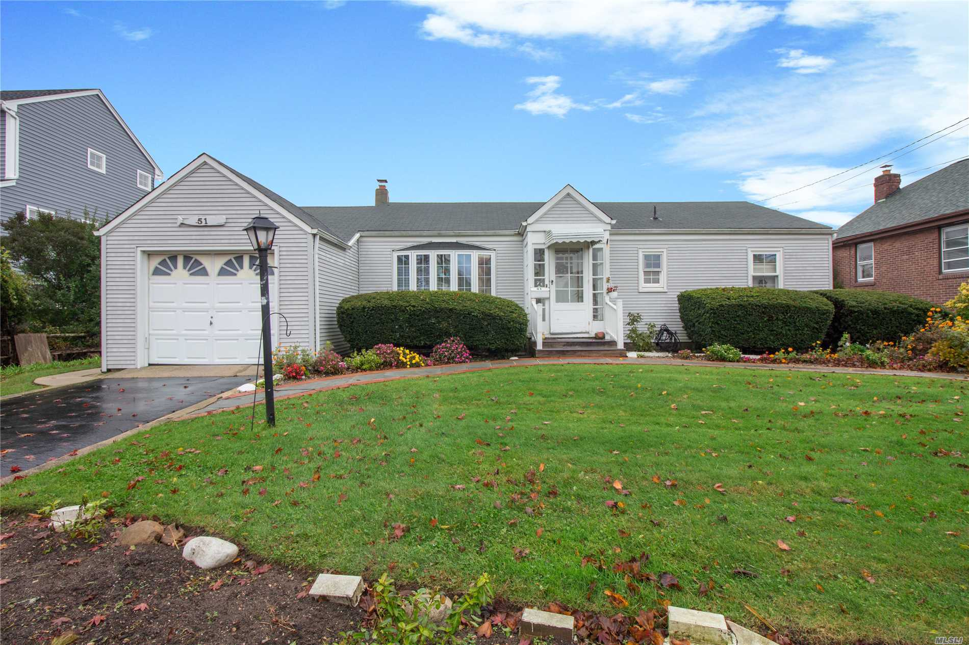 Spacious Ranch On Wide Canal In Babylon Village! This Sun Soaked Ranch Is Situated On A 75X135 Lot With 75' Of Bulkhead. The Home Boasts A Master Suite With Full Bathroom As Well As A Second Bedroom, Add'l Full Bathroom, Hardwood Floors, New Burner & Hw Heater & Much More! Don't Wait, This One Won't Last!