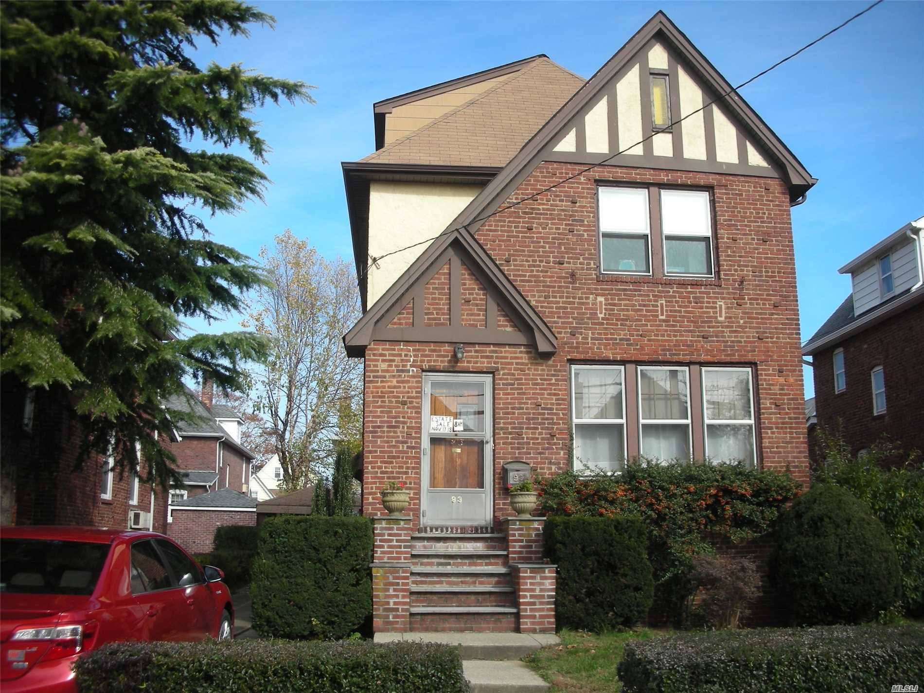Spacious Brick Tudor Colonial In Yorkshire, All Formal Rooms, Over 2, 000 Sf, 4Brs, Dual Staircase From Main To 2nd Floor, Living Room With Fireplace, Open To Den/Sunroom, Oak / Granite Kitchen, Main Bath Has Tub And Shower, 3rd Fl Has Dormer With Huge Bedroom And 5 Windows, Lots Of Stained Glass Windows And Door, New Gas Heating System, Sep. Hot Water Heater, House Being Sold As-Is.