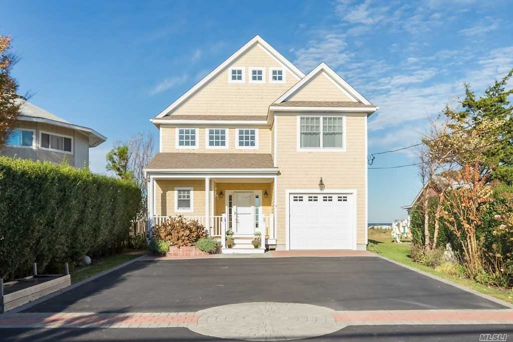 Diamond In The Sand, Custom Built Home With 50' Of Beach Front. House Features 3 Bedrooms, 2.5 Baths, Walls Of Glass With Magnificent Views Of The Long Island Sound, Must See Won't Last.
