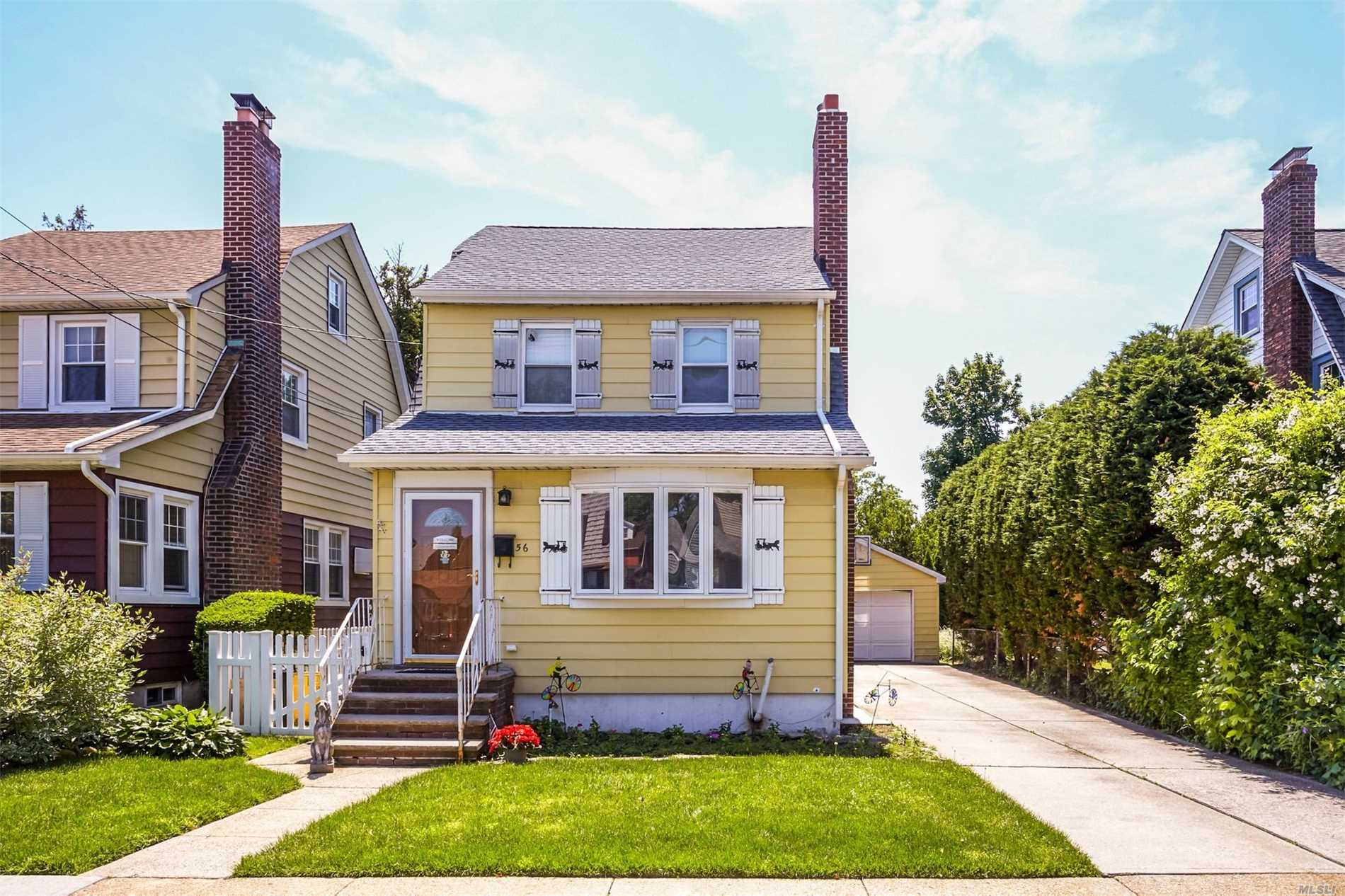Charming Home Located In The Incorporated Village Of Floral Park. Close To Rec Center, Transportation, & Shopping. Oversize Property For F.P. 40 X 143, Home Features Lr W/Fp, Fdr, Eik, 2.5 Baths, Three Bedrooms, (Being Used As A Two Bedroom) Full Basement,  Walk Up Attic, Two Car Garage, A Must See, Turn Key
