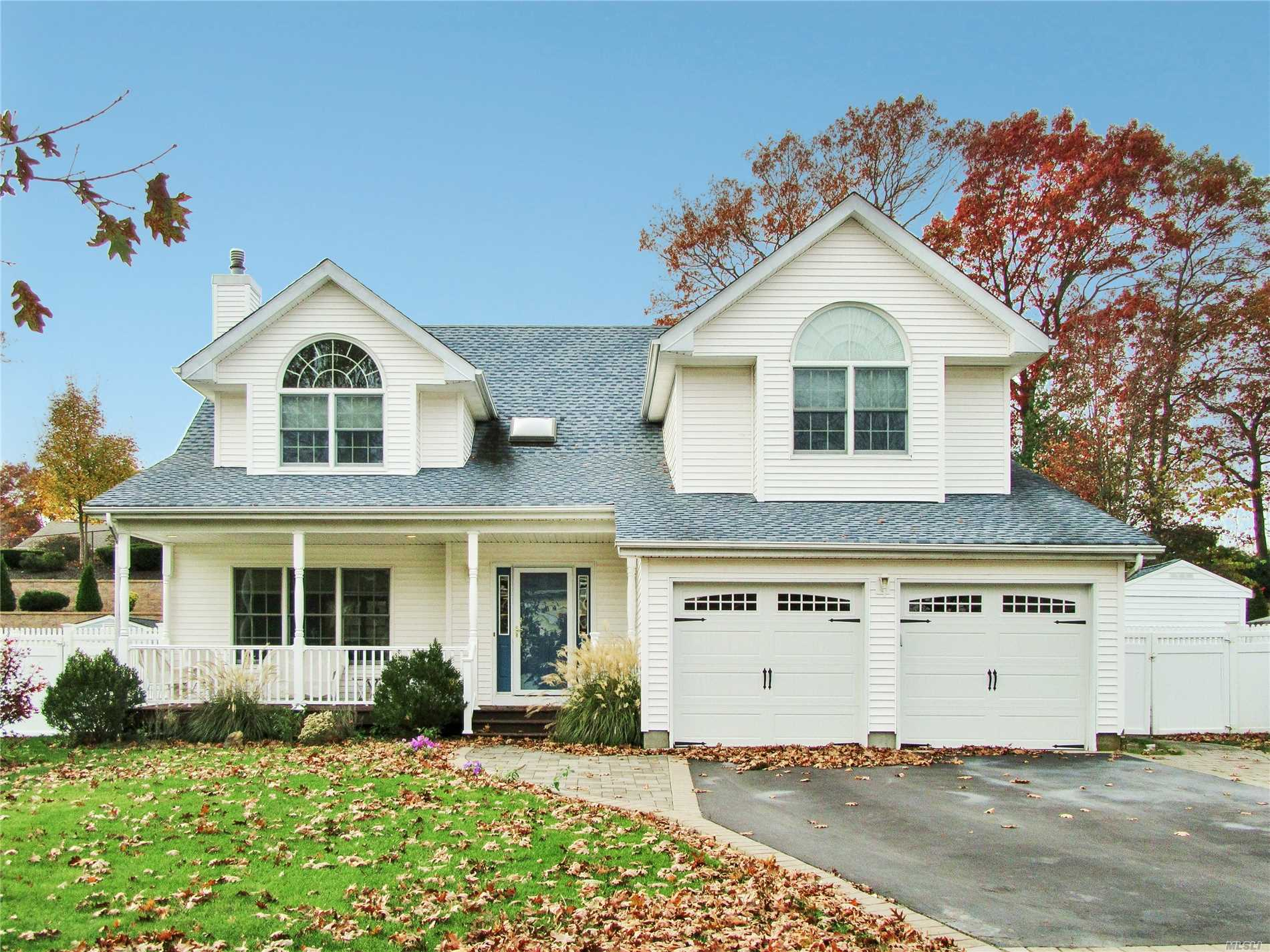 The Beautiful Updated Open Floor Plan Colonial Is Situated On A Cul De Sac With Sidewalks. All 3 Bathrooms Are New And Hardwood Floors Throughout The Home. Mastersuite Has Dual Entry Doors To A Large Suite