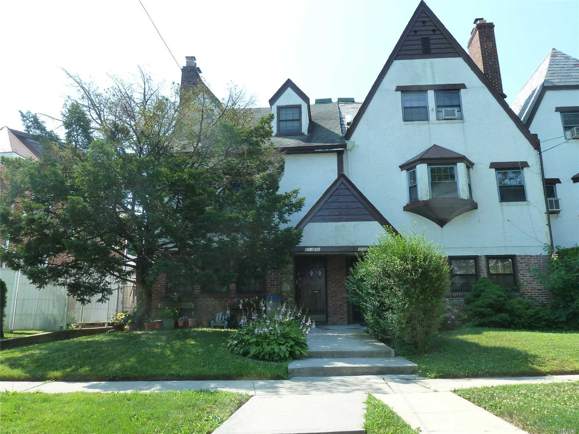 Beautiful 2 Family Tudor House Featuring 3 Bedrooms, 2.5 Bathrooms, Finished Basement And 2 Car Garage. Lot Is 2761 Sqft. It Is Situated Near Mass Transit, Major Highways, Shops And All. Excellent Condition. A Must See!