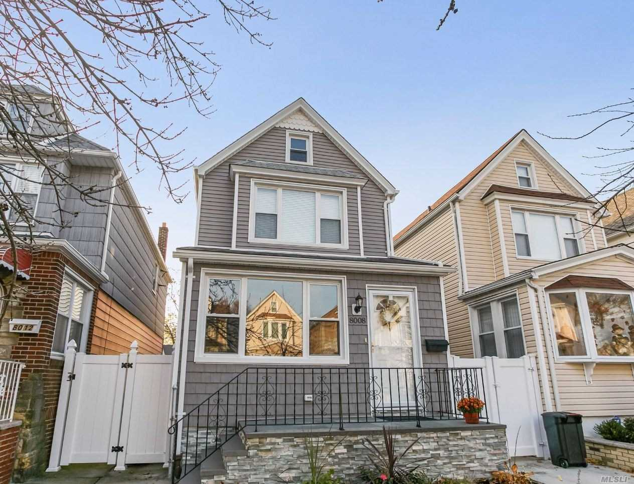 Legal Fully Detatched 2 Family Being Used As A 1 , Parking For 1 Car, Large Private Yard , Finished Basement Hardwood Floors, 3 Ac Split Units, Hot Water Tank , Siding, And Windows All Done In 2016, Nice Tree Lined Street