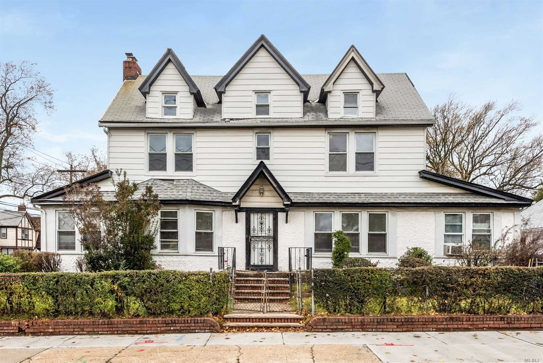 Large Well Kept Corner Colonial Home With 5 Bedrooms, 3.5 Baths, Living Room, Dining Room, Den And Eat-In Kitchen. This Home Also Features A Full Basement, 2 Car Detached Garage And A Private Driveway.