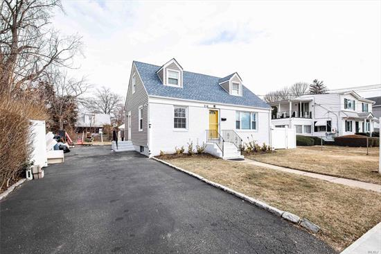 This Lovely Cape Features A New Roof, Updated Kitchen And Bathrooms. 4 Bedrooms 3 Baths, Hardwood Floors Throughout. Spacious Basement With 2 Rooms Separate Entrance. Over-Sized Lot, Minutes To Hofstra University, Shopping And Parkways.