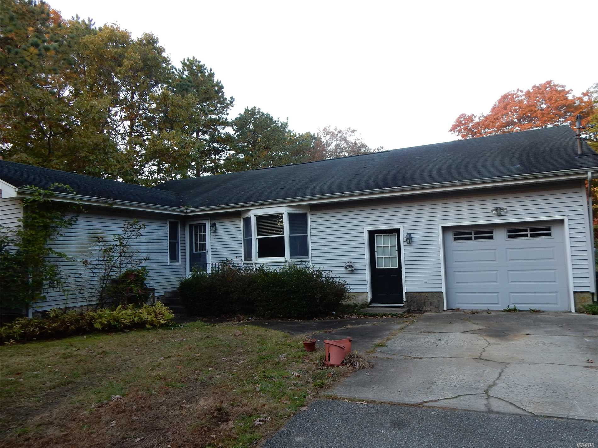 Roomy 3 Bedroom 3 Bath Ranch With Full Basement, 1 Car Garage + Large Detached Horse Barn/Garage. 2.50 Private Acres. Needs Work. Property Is Currently Under Auction Terms. Inspections Not Available, Sold As Is.