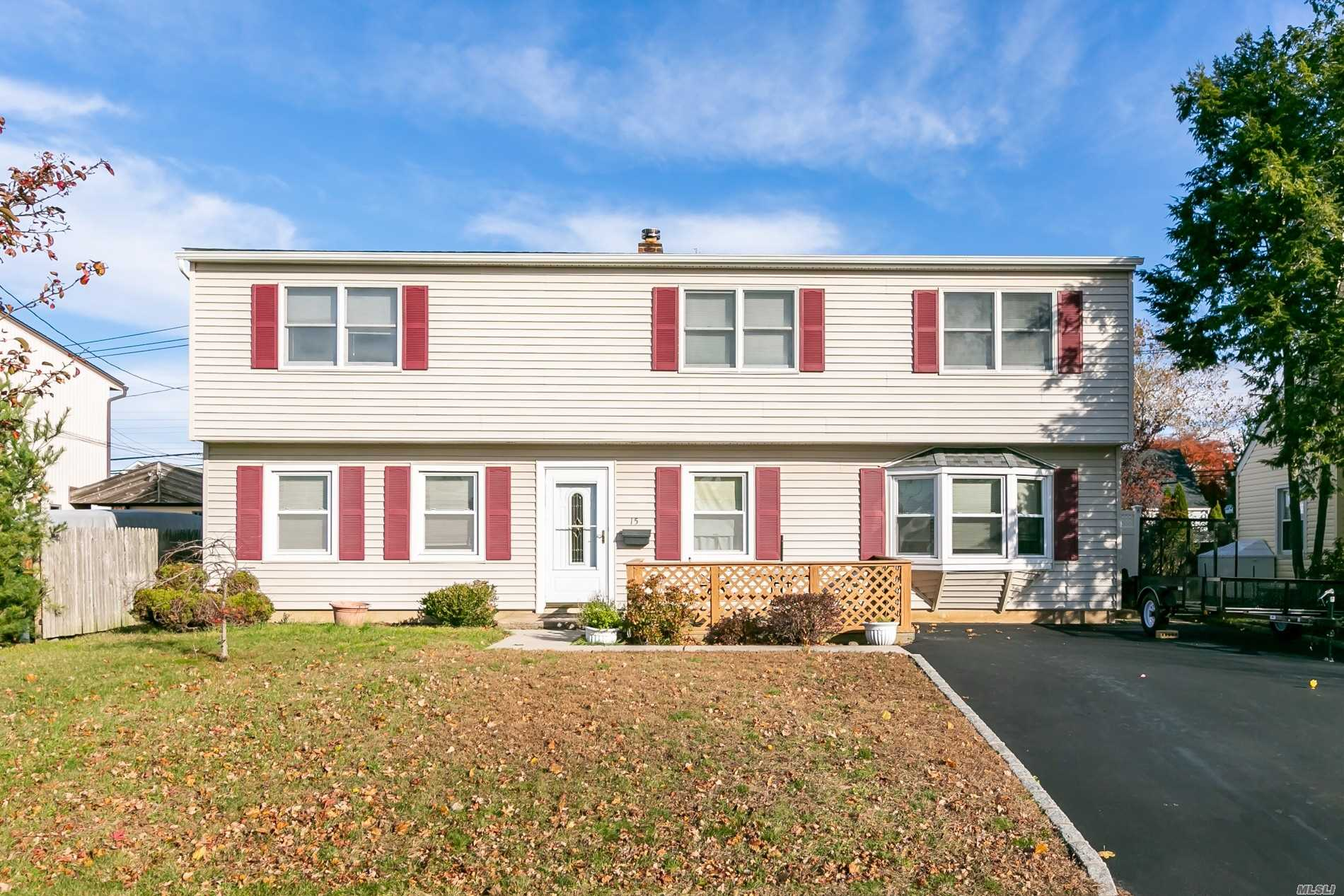 Move Right Into This Spacious Front And Rear Dormered Expanded Cape! Great Layout Perfect For Entertaining. Tons Of Room And Storage. Eik W/ Disherwasher, Lv, Dr, 5 Br's W/ Closets, 2 Fbth. Huge Living Area Upstairs W/ Ose. Over Head Lighting. Wall A/C's. Roof & Siding 2 Yrs Old. Ag Tank. 150 Amp Elec. Updated Boiler. Possible M/D With Proper Permits. Private White Pvc Fenced In Backyard W/ Shed & Cement Patio. Low Taxes!!!