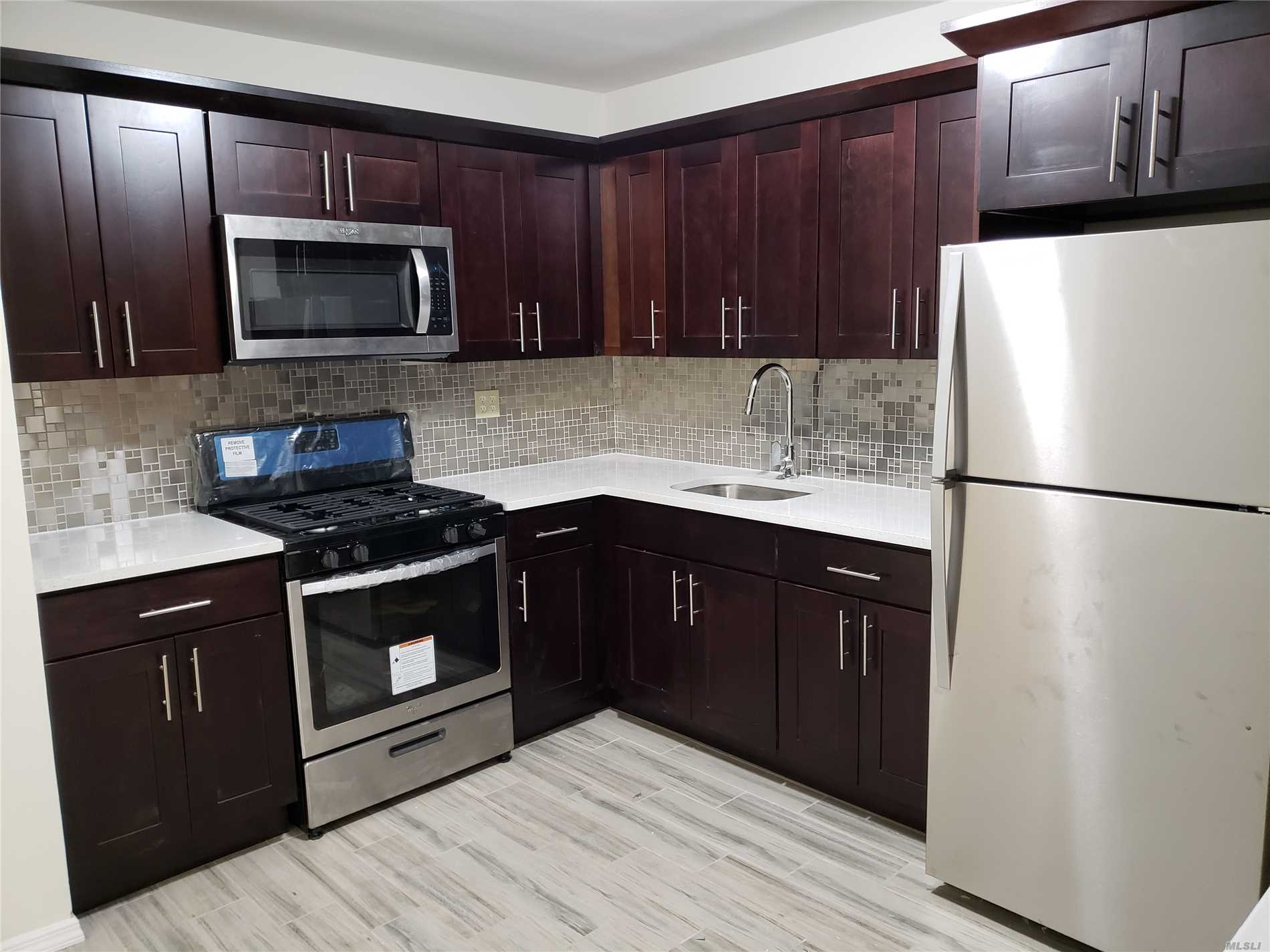 Huge Fully Renovated 3 Bedrooms, 1.5 Bath Apartment, Large Eik With Granite Countertops, Balcony, Few Blocks From Shopping, Schools And F Train.