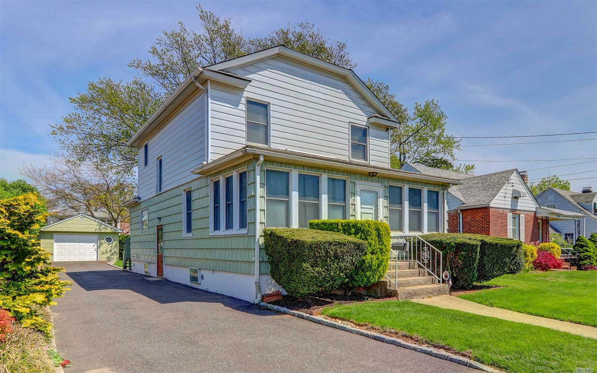 Well Maintained 3 Bedroom, 2 Bath, With Formal Dining Room, Living Room, Eik, Enclosed Front Porch/Office, Back Deck With Motorized Awing, Detached Garage, Full Unfinished Basement.