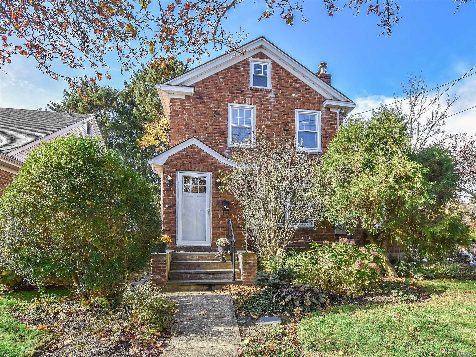 This Charming Brick Colonial In The Heart Of Port Washington Just Minutes To Town. Train, Restaurants And Shopping Is An Opportunity Not To Be Missed. Enter Through Front Foyer With Pretty French Door To Living Room W/Fpl Which Opens To Dining Room. Sunroom Off Lr. Adjacent To Kitchen There Is Sunny Breakfast Room. 3 Bedrooms And Bath Upstairs. Full Unfinished Basement With Half Bath And Lots Of Possibilities. Hardwood Floors, High Eff. Furnace. A Warm And Welcoming Very Bright Home.