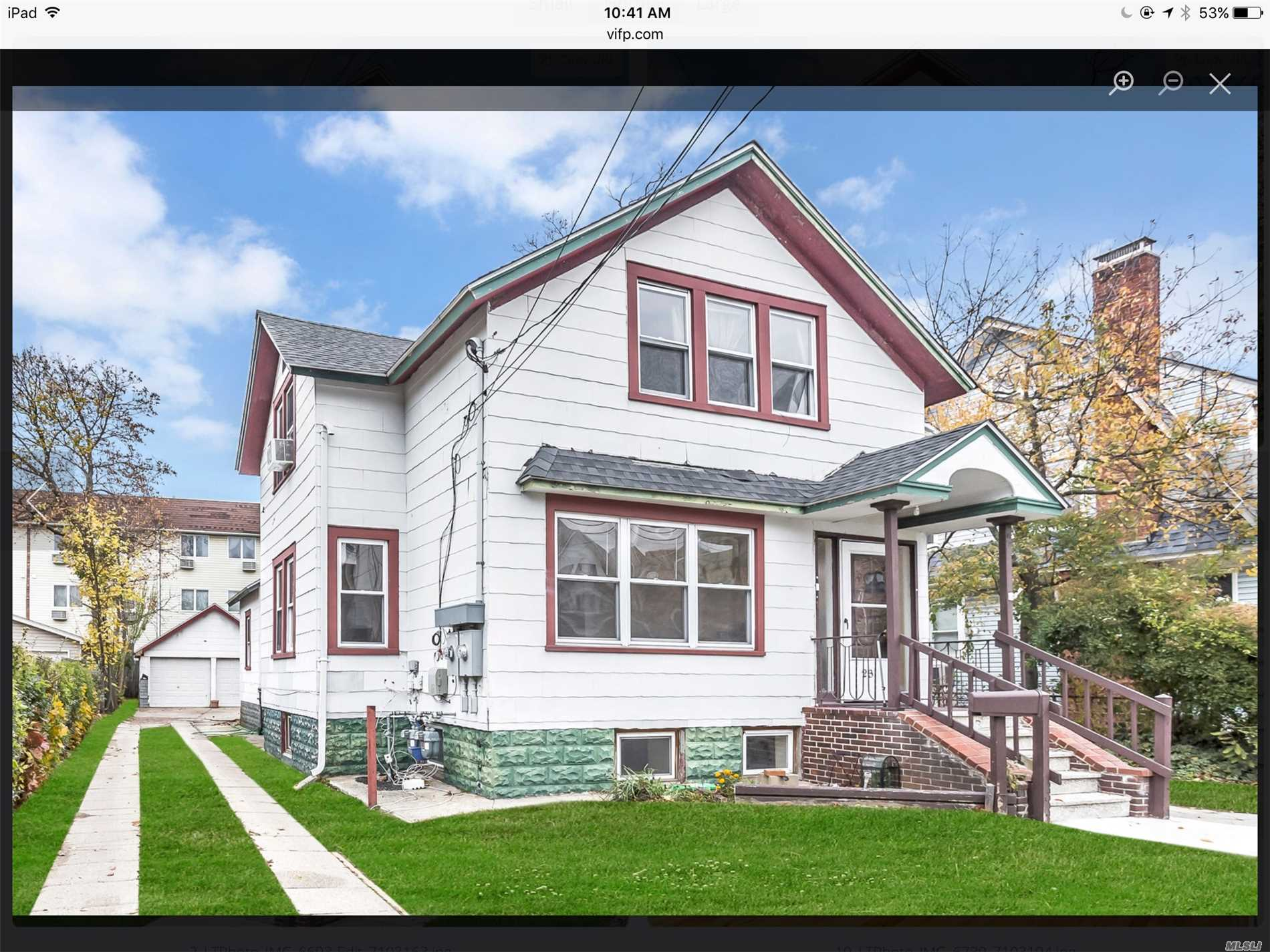 A 6 Bedroom Legal 2 Family Close To Schools, Transport, Businesses. Each Floor Has Their Own Boiler And Washer/Dryer. 2 Car Garage And Private Driveway.