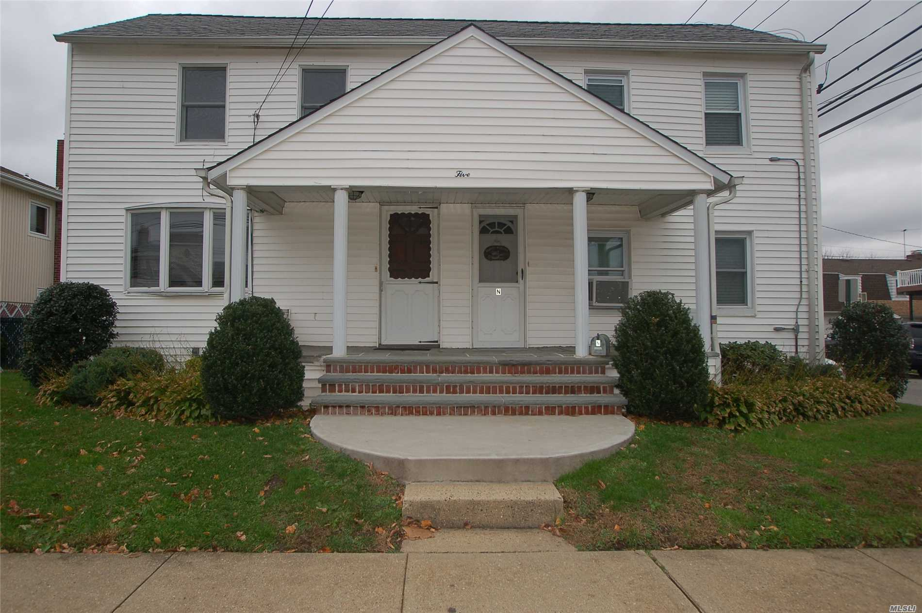 Legal Two Family Duplex Side By Side, Each Apt. Has 1Bedrm 1Bath. Everything Separate, Electric Meters, Basements, Yards, Heating System. Washer And Dryer Hook-Ups Available For Each Apartment.