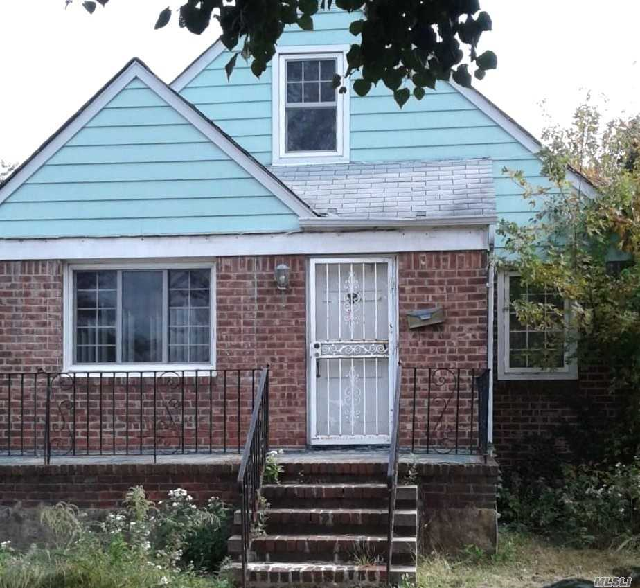 Detached Single Family Cape Located In The Elmont Section Of Nassau County. The Property Features A Living Room/Dining Room Combination, Kitchen, Three Bedrooms And One Full Bathroom. Additionally, Attached One Car Garage, Full/Unfinished Attic, And Full/Unfinished Basement.