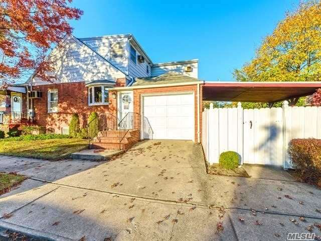 Mother-Daughter With Proper Permits Possibly. This 3 Bedroom, (Could Be 4) 2 Bath Home Is So Well Kept You'll Want To Move Right In. Hardwood Floors Throughout, Being Protected By Carpet. Huge Master On The First Floor W/Bath. Two Nice Size Bedrooms Upstairs And One Small Common Room. Garage With Entry To Home! Nearby Schools, Rail Road, And Shopping Also Near Valley Stream Pool And State Park! 1200 Ft Living Space. Basement Is 522 Plus Sq Feet.