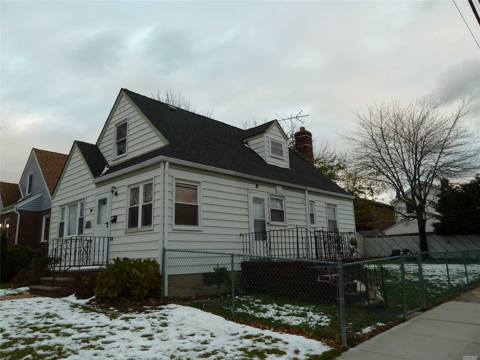 Beautiful Prime Whitestone Loction Corner Property Renovated Cape With Huge Extra Backyard Updated Kitchen And Bathroom Wood Floor Short Distance Expressway,  Shopping, School, Transportation