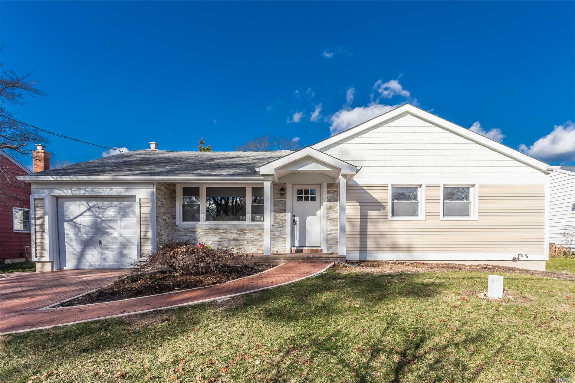 Completely Renovated North Shore Schools Ranch -- Granite Kitchen -- New Baths -- Wood Floors-- Vinyl Siding -- Finished Basement -- Move Right In                                                                                                                       *******************Motivated Owner******************