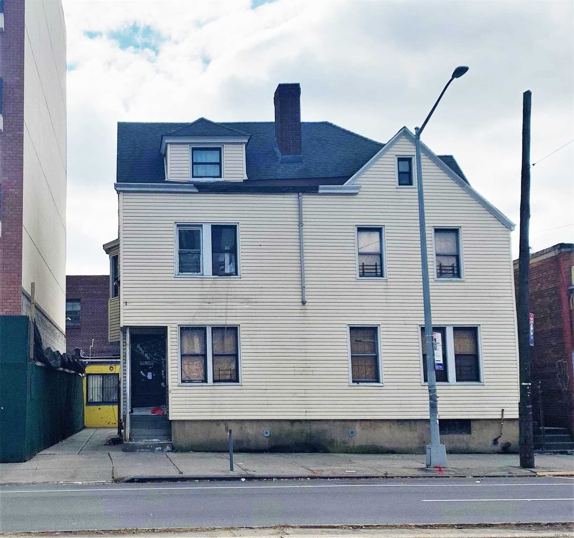 Development Site For Sale In The Hearth Of Jamaica. Close To Public Transportation, Lirr, Grand Central Parkway, F Train, E Train And Buses. Lot Size: 50 By 131, C2-4 , R6A , R5 , Dj. Currently, A Legal Vacant 4 Unit With A Commercial Unit In Rear Of The Lot.