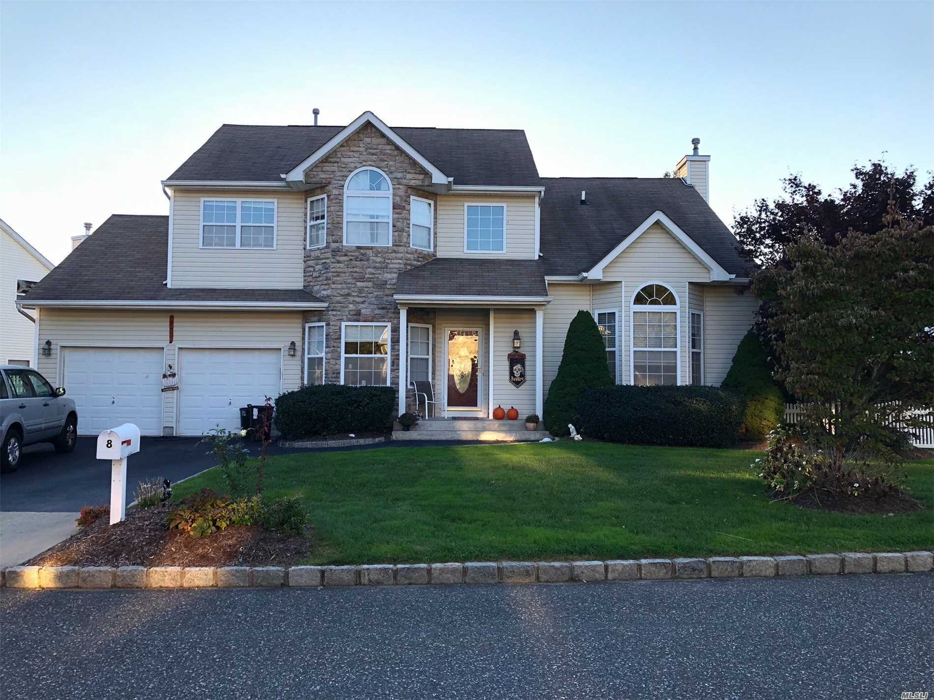 Lovely 2350 Sq 4 Bedroom Colonial Located In Summerfields Gated Community.  Mstr Suite W/ Mstr Bth(Tub & Shower), 2 Master Size Br's With Walk-Ins, Center Island Eik W/42' Cabs, Granite Counters, Ceramic Flr & Bcksplash, S/S Appliances, Wood Flr Thru Main, Fam Rm With Stone Wall Fpl, Beautiful Fin Bsmt, 22 Owned Solar Panels (2Yrs Old) New H.W. Heater, Cac, Patio Fenced Yrd. Hoa $222