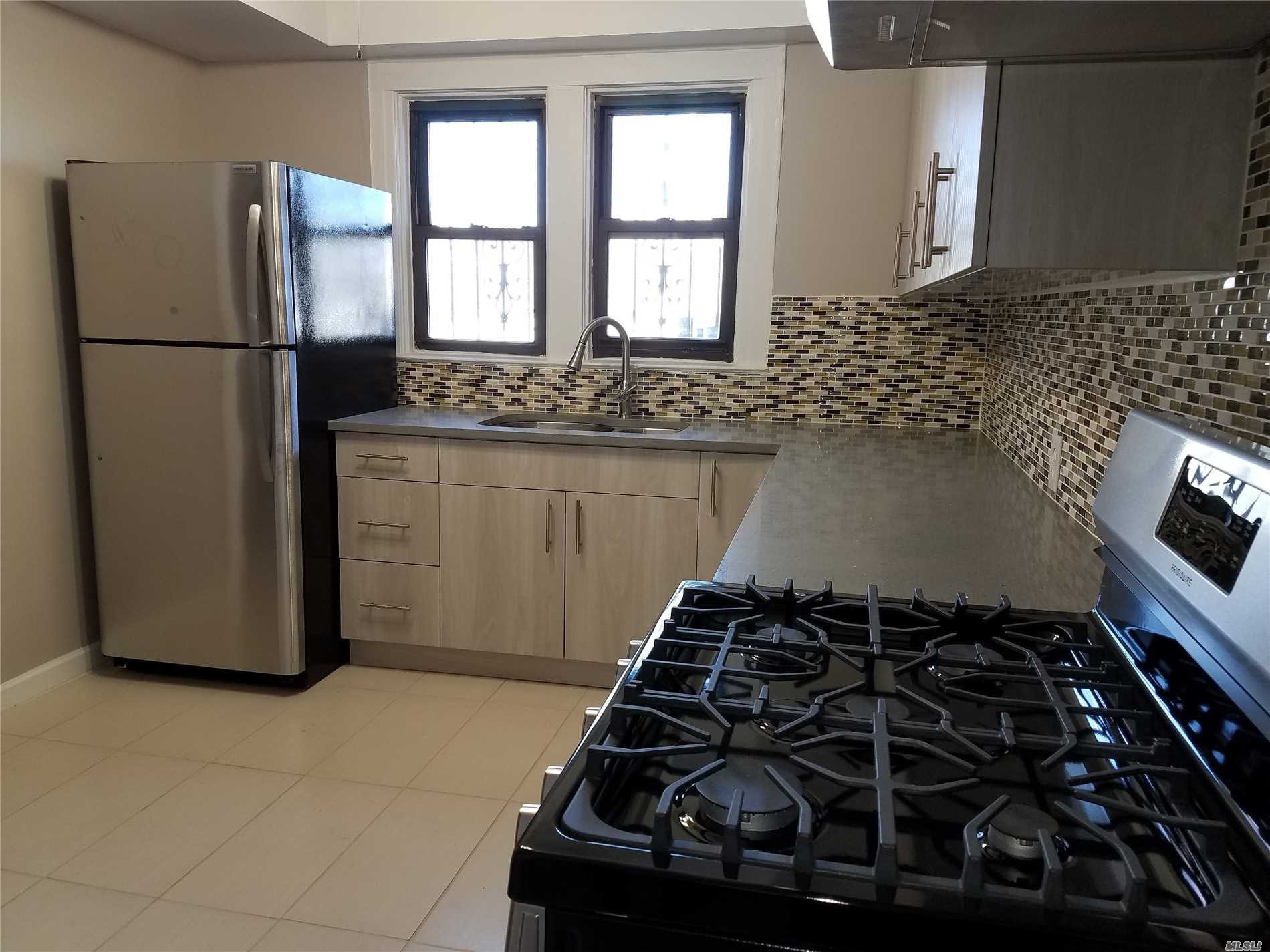 Fully Renovated House For Rent With Finish Basement And Parking. Brand New Kitchen State Of Art. Stainless Steel Appliances , Stone Countertop, And Working Fireplace. All Information Deemed Reliable, Must Be Re-Verified By Purchaser(S).
