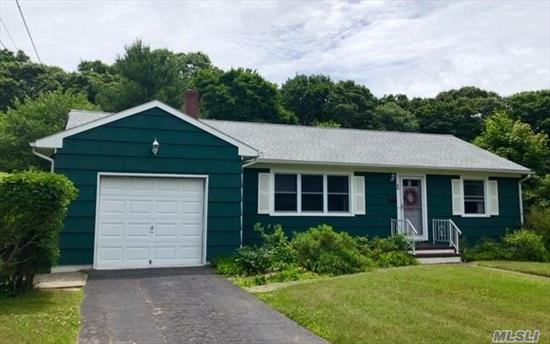 Watch The Colors Of The Seasons Change In Your Own Back Yard And Enjoy Nature At It's Finest With A Shy Acre Of Property. Beautifully Maintained 3Br, 1Ba Ranch Style Home Offers A Peaceful Retreat In The Heart Of Center Moriches. Hardwood Floors, 1 Car Garage, Large Basement With Ose, And New Roof. Great Community With Award Winning Schools, Close Proximity To Main St. And The Bay Make This Home A Must See. Your Future Memories Begin Here With Plenty Of Room To Grow. Prime Location, Must See.