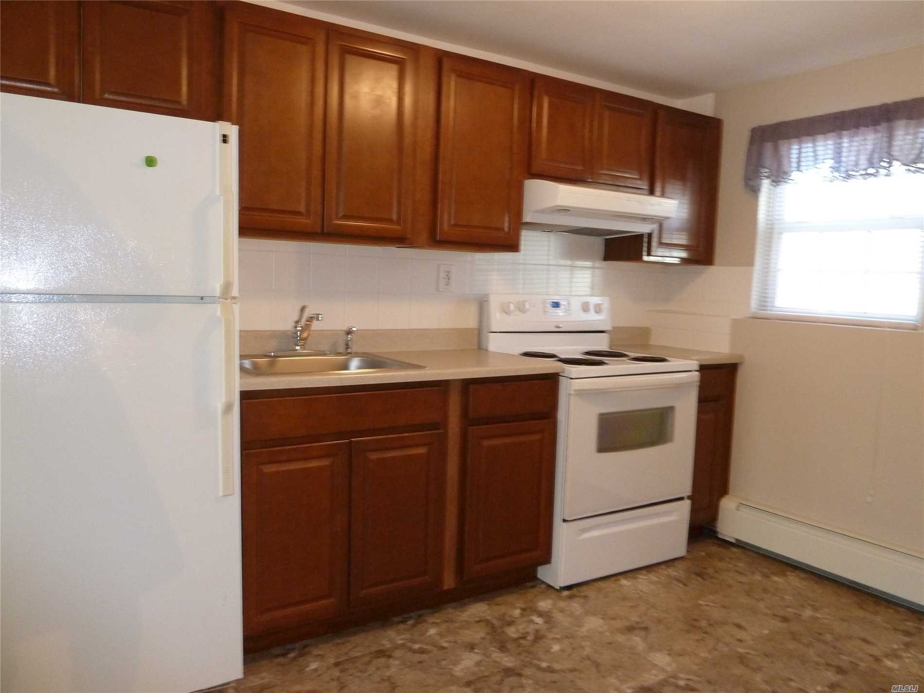 Amazing Brand New 1 Bedroom Apartment In Mint Condition, With Large Living Room, Full Bath With Tub And Eat In Kitchen Including New Appliances, Cabinets, Flooring, Carpets And Fresh Paint. Located In A Quiet Neighborhood Close To Huntington Village. Minutes Away From All Major Highways, Walt Whitman Mall, Rt 110 And Train. Free Use Of Washer/Dryer. Private Parking Space And Entrance. Owner Pays Heat/Water. Tenant Pays Electric/Cable. No Pets Or Smoking. References/Credit/Financials Required.