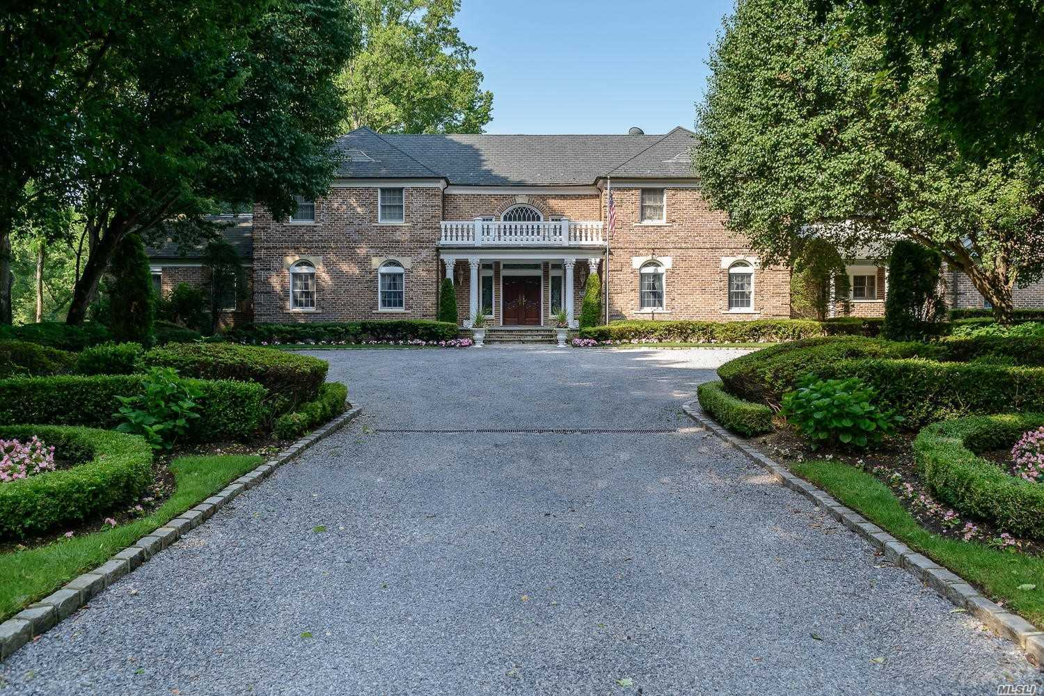 True Estate Located On 10+/- Acres With Rolling Lawns, Mature Trees And Magnificent Landscaping. Very Private. Beautiful Pool And Surround. Wonderful Flowing Pond With 2 Fountains. A Refuge Haven From The World. Taxes Being Grieved. Generator.