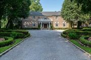 Magnificent Estate Located On 10+/- Acres With Rolling Lawns, Mature Trees And Professional Landscaping. Very Private. Beautiful Pool And Surround. Wonderful Flowing Pond. A quiet Refuge From The World For Birds. animals & humans. Taxes Being Grieved. Generator.
