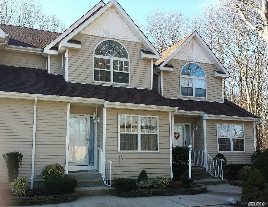 East Islip, Low Common Charges $237. Entry Foyer, 1/2 Bath, Eat In Kitchen, Living Room With Gas Fireplace, Dining Room, Washer/Dryer, 2nd Floor 2 Bed Rooms, Full Bath Jack And Jill, Master With Full Walk In Closets, Basement Finished), Rear Deck, Parking In Front Of Unit. Last Building On The Left.