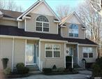 East Islip, Low Common Charges $237. Entry Foyer, 1/2 Bath, Eat In Kitchen, Living Room With Gas Fireplace, Dining Room, Washer/Dryer, 2nd Floor 2 Bed Rooms, Full Bath Jack And Jill, Master With Full Walk In Closets, Basement, Full bath, Finished), Rear Deck, Parking In Front Of Unit. .