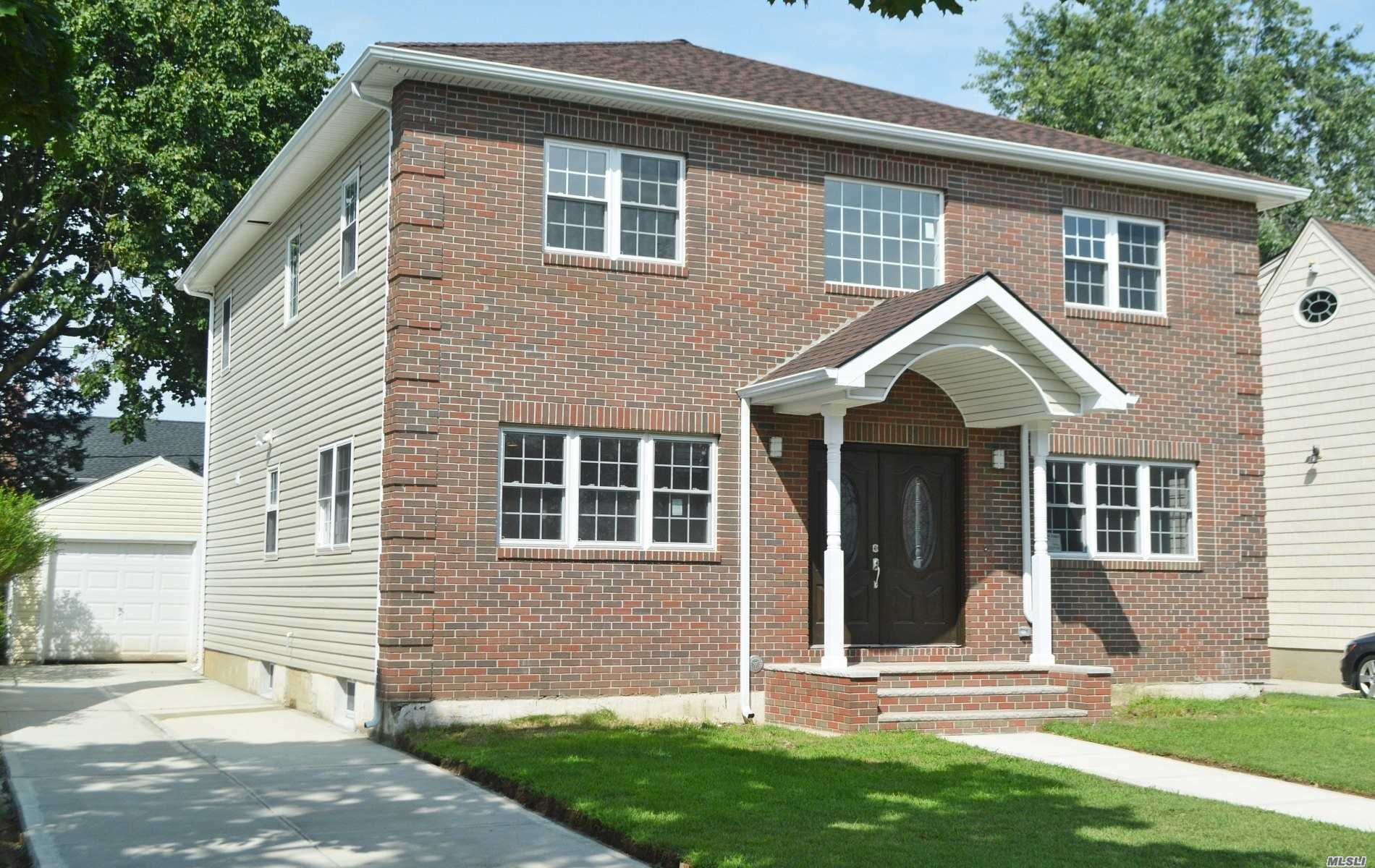 Just Rebuilt In 2018, All New Condition!Beautiful Center Hall Colonial In Desirable Quiet St, Herricks Schools, 2400 Sq Ft, Offering 4Beds 3.5Bath, Master Suites On 1st Fl & Bigger Master Suites On 2nd Fl, Extra Sitting Area On 2nd Fl, Huge Open Flow Layout Eik W/Formal Dining, All High-Line Appliances, Oak Hardwood Fls, 6 Heating Zone, 8 Ductless Split A/C& Hi Hats Every Rms, Close To Schools & All Major High Ways!