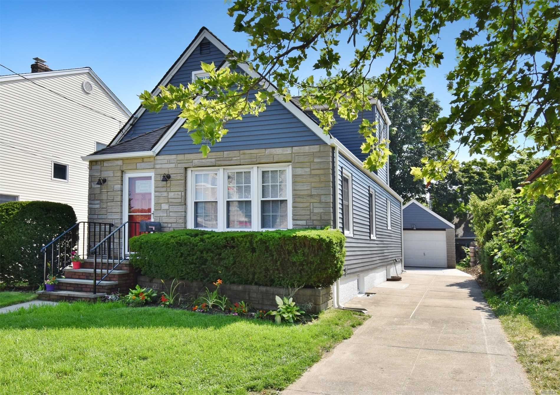 Beautifully Renovated 3 Br, 2 F.Ba. Cape. Total Renovation W/All New Hrwd Flrs Throughout, New Kit. W/Ss Appl., Granite Counters, 2 New F/Baths, Full Fin.Bsmt W/Egress Wndw. All New Plumbing, Elect., Cac, , New Rear Steps & New Patio, New Roof & Gutters On Garage, 3 Car Pvt Driveway. Homeowner Has All Co's And Permits. Close To Town, Schools, Lirr, Bus, Stores, Worship, And