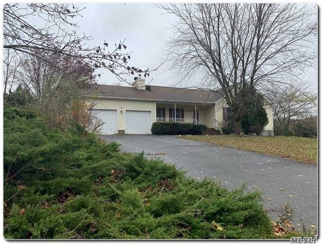 Look No Further, Crystal Pines Estates At Aquebogue, Great Nice Size Ranch, 3 Bedroom, Living Room With Fpl, Master With Full Bath, Full Finished Basement With Bath, 2 Car Attached Garage. Beautiful Park Like Yard, Very Private. Needs Some Tlc, Won't Last Must See!