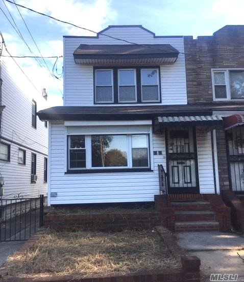 Location! Location! Location! This 1 Family Semi-Detached, Colonial Features A Finished Basement, Living Room, Dining Area, Kitchen, Three Bedrooms, One Full Bath & More. This Property Has A Party Driveway With A One Car Detached Garage.