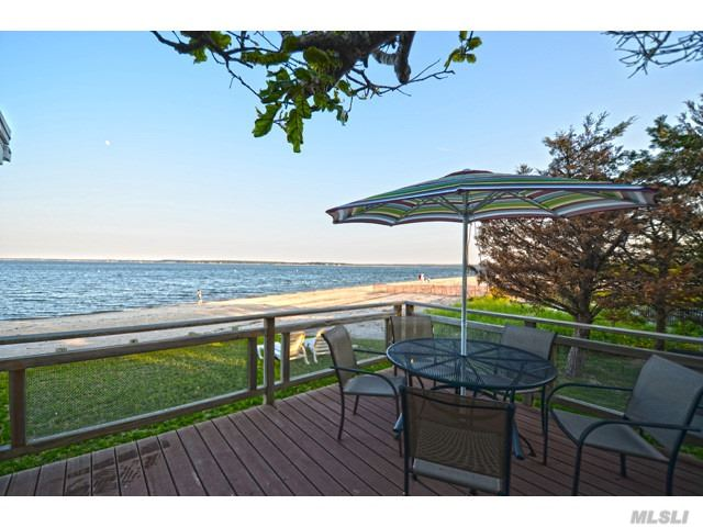 Looking To Be Directly On A Sandy Bay Beach? This Is The Opportunity You've Been Looking For. Ideal Location For A Summer Fun Retreat. Waterside Deck Overlooks Bay With Wide Sweeping Views. Outdoor Shower. Adjacent To S. Jamesport Beach Which Features 3, 000 Ft. On Peconic Bay, Tennis Courts, Designated Swimming Area, Pavilion, And Playground. 2019 Available MD through July. June $8, 000., July $12, 000. Also available for autumn season.