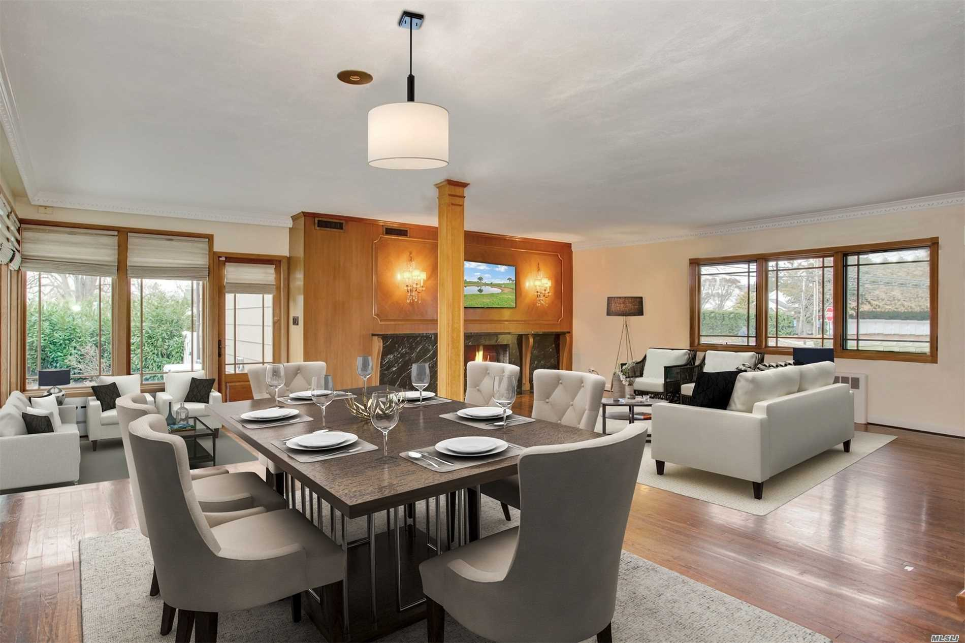 In Strathmore. Expanded Ranch Open Concept Kitchen, Lr, Dr, With Wood Burning Fpl. En Suite Master On 1st Fl, Total 5 Br's, 4 Updated Baths. Special Features Incl. New Kitchen, W/Quartz Counter Tops, New Backsplash, Sub-Zero Refrig, Gas Stove, New Wood Grain Tile Flr. Other Features: Laundry On1st Fl. Include Igs, Alarm, Fin. Bsmt., Ductless Cac Wall Units, Hardie Board Siding, Backup Generator, New Pavers Patio W/Custom Bbq Island Grill & Vinyl Fenced Backyard. Put This One On Your List!