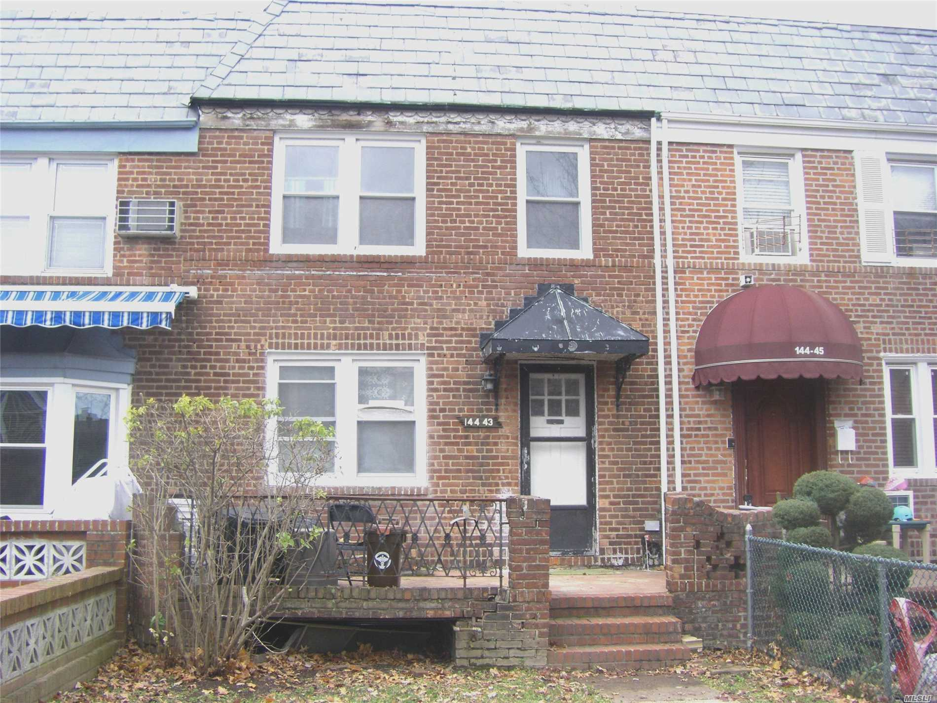 Attached House On A Quiet Block W Garage And Basement. House Has Living Room, Dining Room, Kitchen, 3 Bedrooms, 1.5 Baths