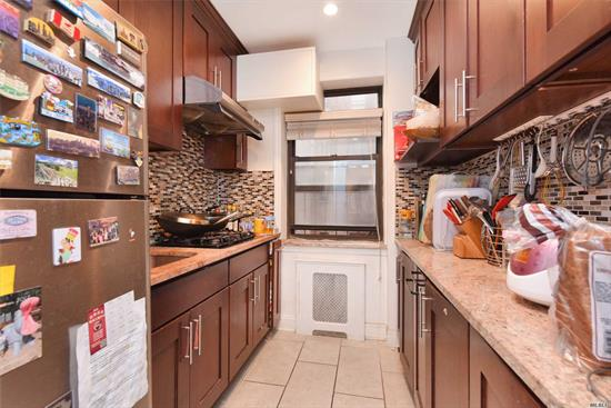 Spacious And Sunny 2 Bedroom 1 Bathroom Coop Unit, Sitting On One Of Most Quiet Block Of North Flushing . South- West Exposure Provide Sun Shine All Day. Recently Renovated With Top Of Line Appliance, Hardwood Flooring Throughout The Unit , Modern Kitchen And Bathroom With Window, Lot Of Closets, Low Monthly Maintenance Include All Utility, Outdoor Parking On Short Wait List, Laundry, Storage Room Available. Close To Multi-Bus And High Way, Post Office Shopping Center, School, Library