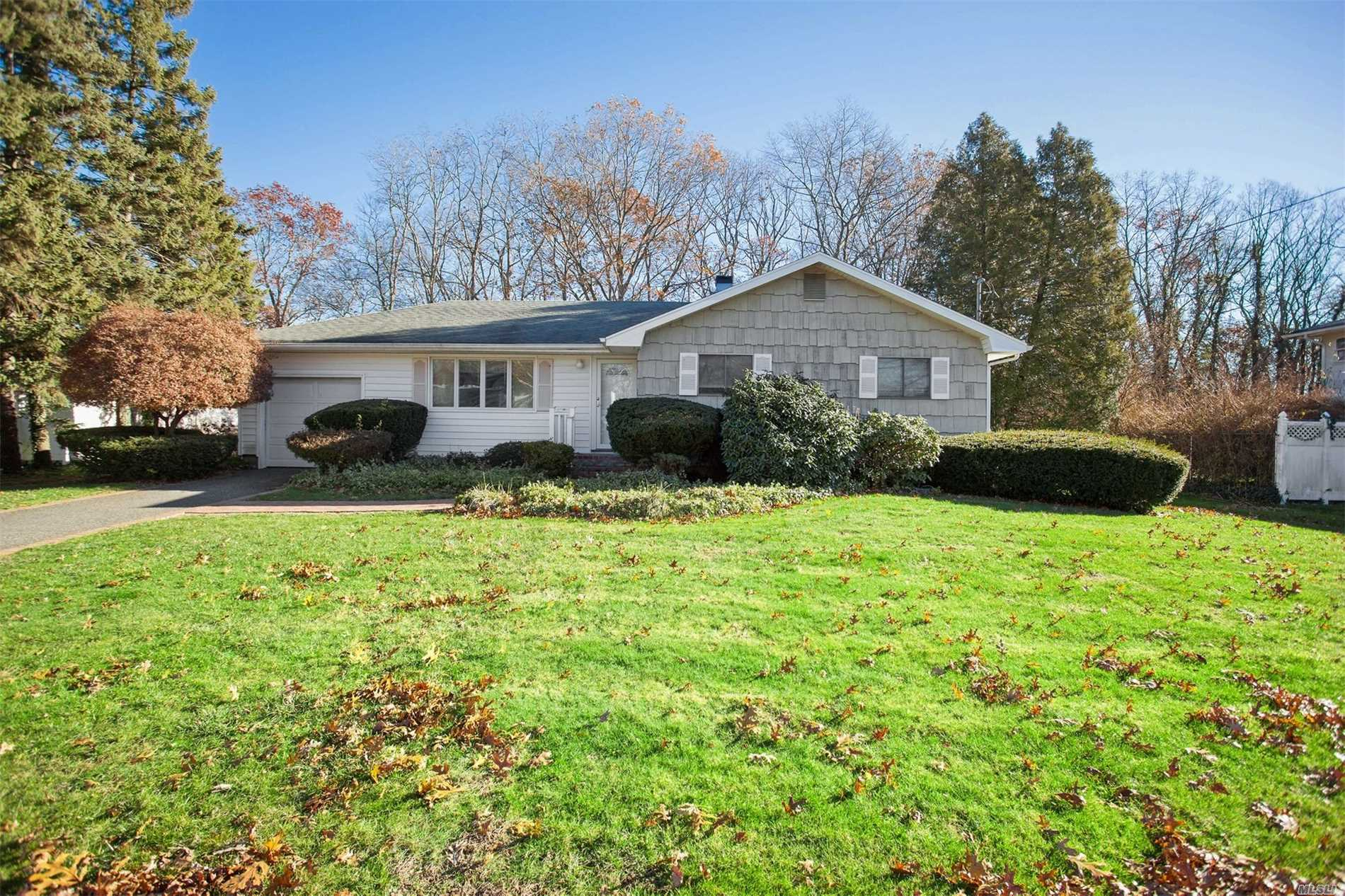 Great 3 Bedroom Ranch With Hardwood Floors, Full Basement, Washer, Dryer & Utilities. Cozy Den With Fireplace, Newer Roof And Central Air .