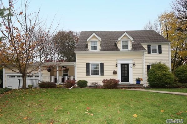 Beautiful, Center Hall Colonial Home, In Move In Condition. Recently Updated Kitchen W New Viking: Refrigerator, Gas Oven, Stove, Microwave; All Viking Appliances. Turnkey, Prime Location Near Lirr, Town, School, Restaurants.