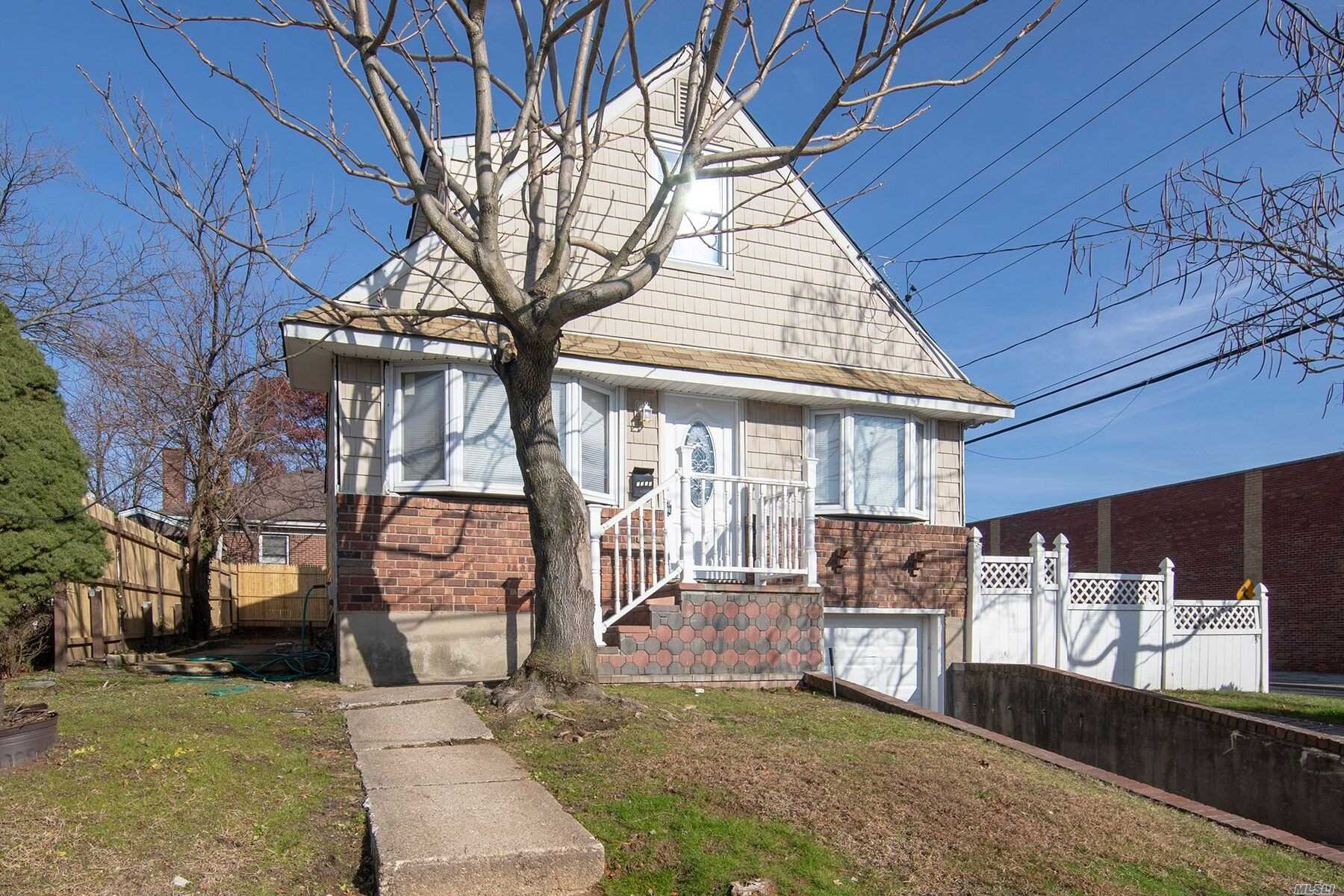 Beautiful Fully Updated 4 Bedroom, 3 Bath House In The Heart Of Elmont! Valley Stream School District. 1st Floor Has Master Bed, 2nd Bedroom Full Bath , Living Room / Dinning Room W/ Kitchen + Side Entrance To Spacious Back Yard! 2nd Floor Has 2 Spacious Bedrooms And Full Bath. Full Finished Basement Has A Nice Sized Open Space For Play Area Or Den, 2 Rooms And A 3rd Bathroom With Separate Entrance! 1 Car Garage Attached. New Boiler, New Appliances, Washer / Dryer Hook Up! Great House For All!