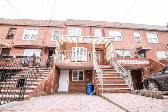Beautiful One Family Brick Home In The Heart Of Rego Park! Features Living Room, Formal Dining Room And Huge Eat In Kitchen With Sky View, Office/Computer Room And 1/2 Bathroom. The Second Floor Has Two Nice Bedrooms, Each Has A Walk-In Closet. And A Full Bath.The Basement Is Fully Finished With Separate Entrance With A Family Room, One Bedroom And The Full Bath. Nice Sized Private Yard. Desired Neighborhood :Close To Subway, Great Shopping, Easy Access To All Major Highways. This Will Not Last