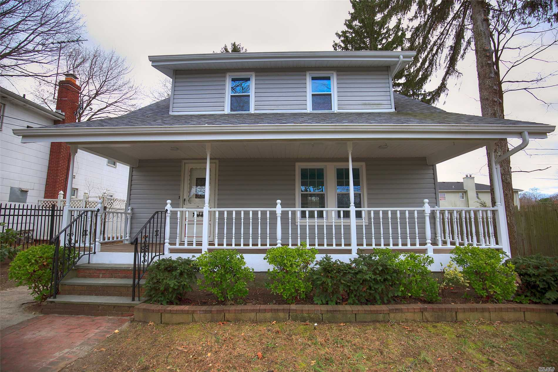 Fully Renovated Home On Quiet Midblock Street In Glen Cove. Brand New Kitchen, Appliances, Baths, Floors, Walls, Windows, Boiler, Cac, & Roof. Huge Property W/Big Backyard, Room For Pool. Oversized Detached 2 Car Garage W/Long Driveway. Full Finished Basement With Br, Family Rm, Laundry Rm, Full Bath.