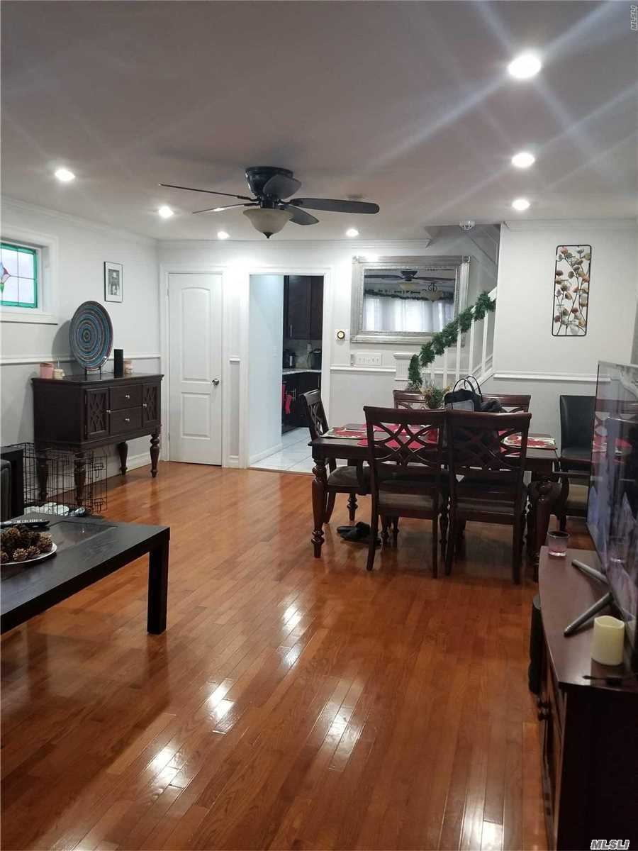 Fully Renovated In 2016-New Boiler, Kitchen, & Interior - Beautiful 1 Family In Desirable Cambria Heights. 3 Bedrooms, Living Room, Dining Room, Eat In Kitchen, 2 Full Bathrooms. Full Finished Basement With Separate Entrance. Private Driveway & Nice Backyard - Very Well Kept - Mrs. Clean Lives Here!