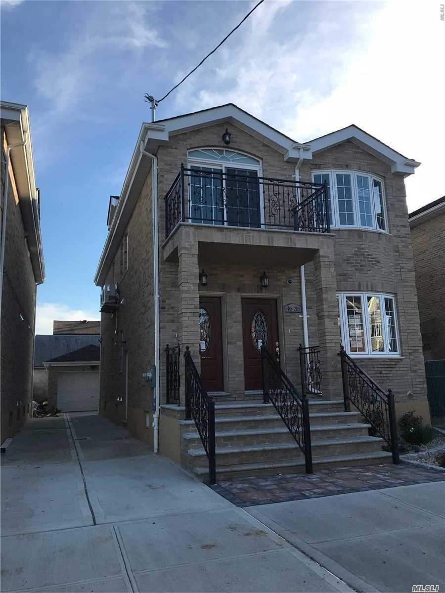 It's All About Location! View This One Of Kind Brick Colonial House With Top Tier Materials. Located In The Heart Of Flushing. Close To Allsupermarkets And Restaurants. Minutes Away From Major Transportation And Highways. Legal Two Family Built In 2018. A Must See!