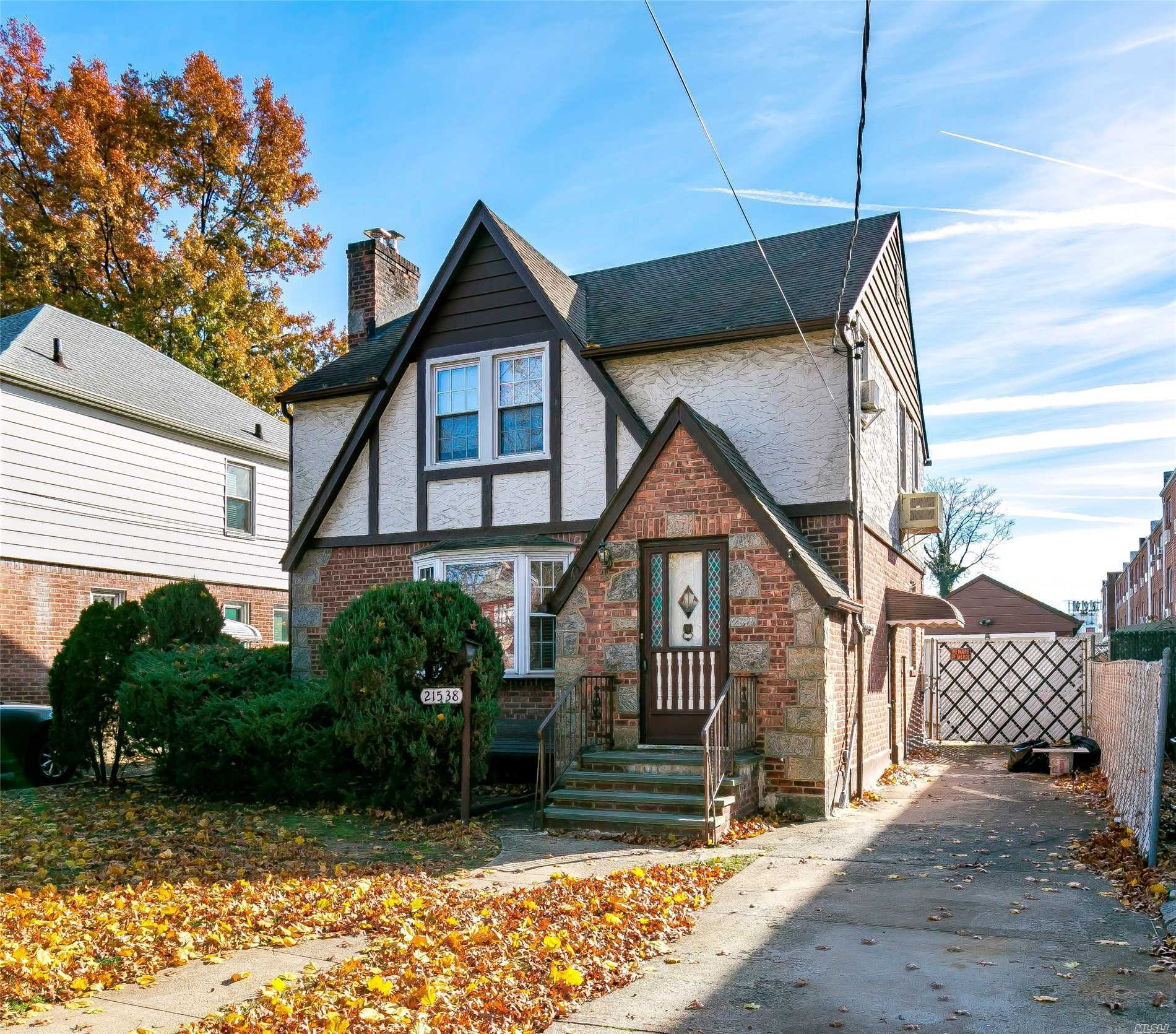Beautiful Brick Colonial With Detached Garage On 40X100 Lot, In Prime Location, Zoning: R3X, Gas Heating. 1 Block To N. Blvd, 5 Blocks To Bell Blvd [Lirr], 1 Block To Express Bus To Nyc, Q13 To Flushing, Easy Access To Major Transportation.