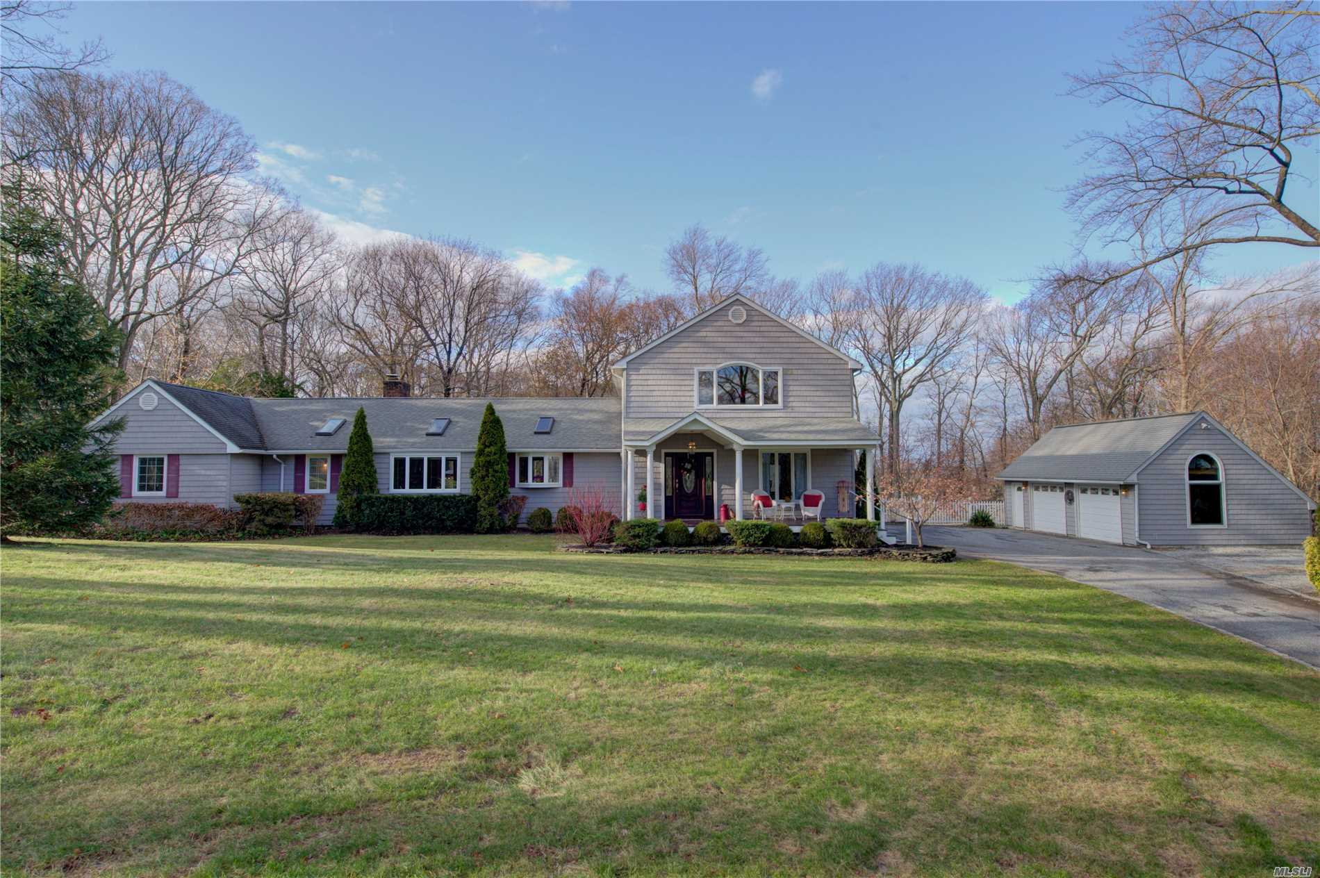 This Is The One! Lovely, Sunlit Forever Home Nestled On 2 Acres In Desirable Cul-De-Sac Offers Serenity & Privacy Surrounded By Nature's Best. With Vaulted Ceilings, Open Flow Living Spaces, Master Bedroom Suite Options On 1st Or 2nd Floor W/ Balcony Overlooking Northport Harbor, Lush Gardens, Lawns & Salt Water Pool. Enjoy A Country Lifestyle Just Minutes From Dining, Shopping, Beach, Blue Ribbon Award Winning Harborfields Schools, Lirr & Parkways!