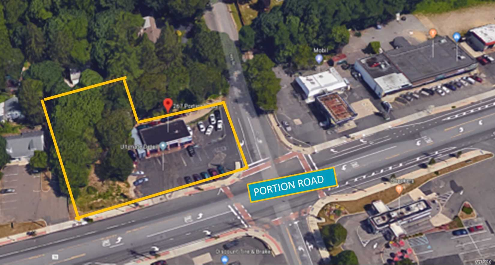 Prime Redevelopment Opportunity! Located At A High Visibility Corner On Heavily Traveled Portion Road In Lake Ronkonkoma. Two Lots With Just Over ? Acre Combined. The Perfect Location For Major Retailers. Traffic Light. 224 Feet Of Frontage On Portion! Surrounded By National Retailers. Close To All Major Roadways, Lirr And More!