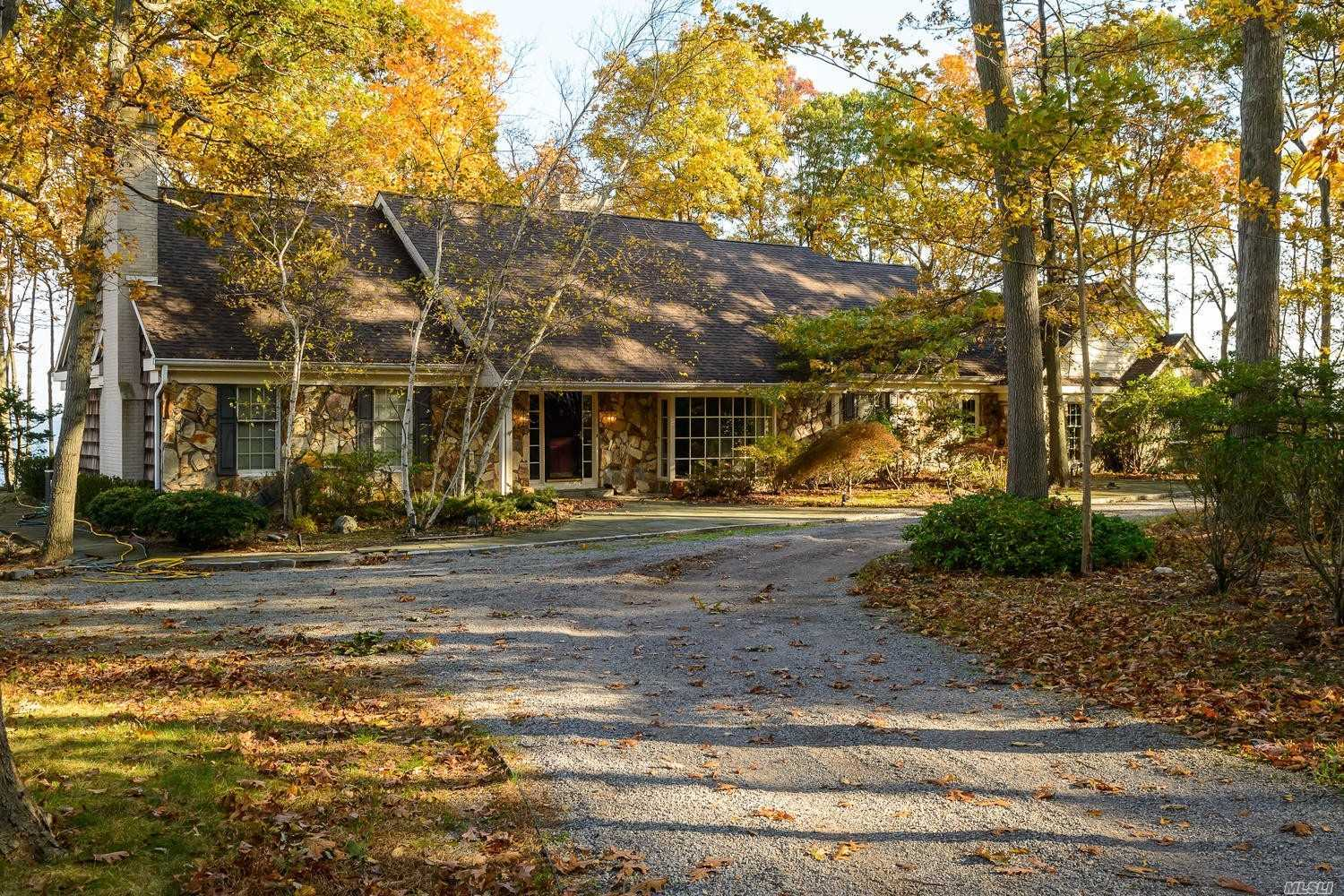 This Waterfront Home Has Breathtaking Views Of The Long Island Sound With A Secluded And Serene Location! An Open Floor Plan For Today's Lifestyle And Almost Every Room Has These Spectacular Views From Family Room, Kitchen, Bedrooms And Study. A Wood Burning Fireplace In The Family Room And Library. A Wonderful Setting Awaits You In This Waterfront Residence.