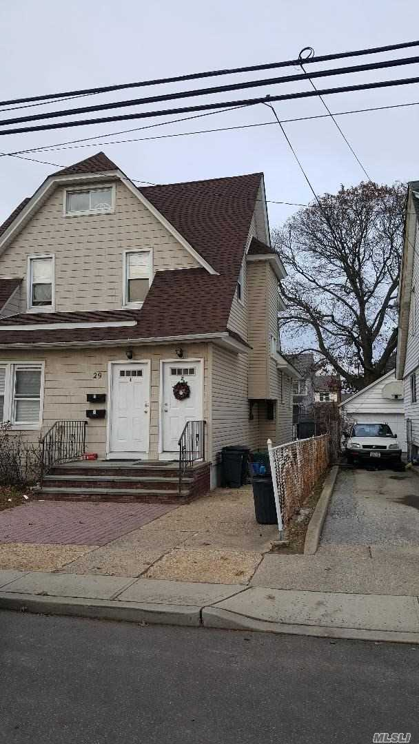 Lovely 2 Bedroom And 1 Bath On The First Floor With Full Unfinished Basement Ready For Washer And Dryer, Parking For 2 Cars And Use Of Backyard